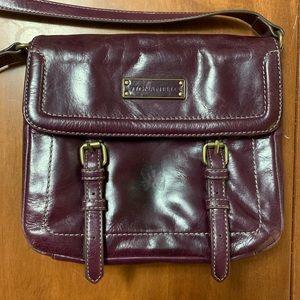 Tignanello Purple Leather Crossbody Bag